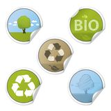 Ecology Stickers Royalty Free Stock Photography