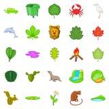 Ecology sustain icons set, cartoon style. Ecology sustain icons set. Cartoon set of 25 ecology sustain vector icons for web isolated on white background Stock Photos