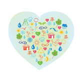 Ecology symbol - abstract heart Stock Photos