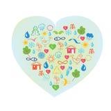 Ecology symbol - abstract heart Stock Photos