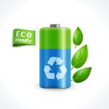 Ecology symbol battery Royalty Free Stock Image