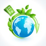 Ecology symbol globe Royalty Free Stock Image