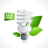 Ecology symbol lightbulb Stock Photo