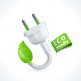 Ecology symbol plug Royalty Free Stock Photo