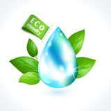 Ecology symbol water drop Stock Photo