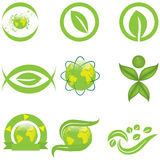 Ecology symbols and logo Royalty Free Stock Photo