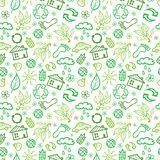 Ecology symbols seamless pattern background Stock Photography