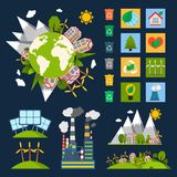 Ecology symbols set Stock Photo
