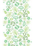 Ecology symbols vertical seamless pattern Royalty Free Stock Photo