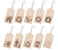 Ecology tags set Stock Images