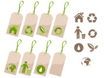 Ecology tags set Royalty Free Stock Photo