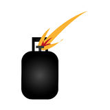 Ecology tank gas icon Royalty Free Stock Photography