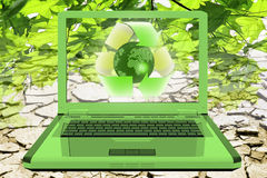 Ecology and technology. Background can use the Internet, print advertising and design Stock Images
