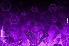 Ecology technology concept - chemical formulas Stock Image