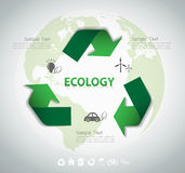 Ecology template background. Royalty Free Stock Photo