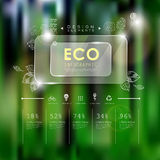 Ecology template with doddle and glass elements Royalty Free Stock Photography