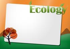 Ecology text sheet Royalty Free Stock Photos