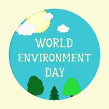 Ecology theme, Earth day, eco friendly concept. 3d paper cut design. royalty free illustration