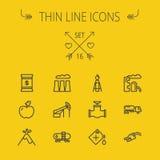 Ecology thin line icon set Royalty Free Stock Photo