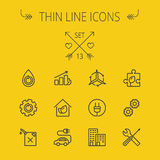 Ecology thin line icon set Royalty Free Stock Images