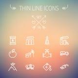 Ecology thin line icon Stock Image