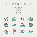 Ecology thin line icon Royalty Free Stock Photos