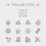 Ecology thin line icon Royalty Free Stock Images