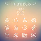 Ecology thin line icon Royalty Free Stock Image