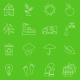 Ecology thin line icons. Flat line icons set of ecology and recycle vector illustration
