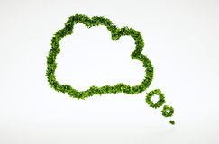 Ecology thinking bubble symbol Royalty Free Stock Images