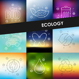 Ecology timeline infographics with blurred Stock Photography