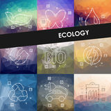 Ecology timeline infographics with blurred Royalty Free Stock Images