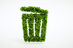 Ecology trash can concept Royalty Free Stock Photos