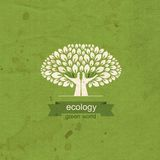 Ecology. Tree and hand in the form of a tree trunk Royalty Free Stock Photography