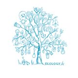Ecology Tree Infographic Concept Stock Photos