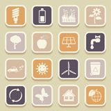 Ecology universal icons Stock Images