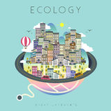 Ecology urban life Stock Images