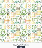Ecology wallpaper. Green energy connected seamless pattern. Royalty Free Stock Photo