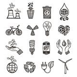 Ecology and waste icons set Stock Photography