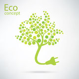 Ecology and waste plug symbol with eco Stock Image
