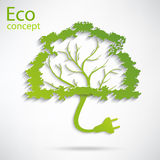 Ecology and waste plug symbol with eco Royalty Free Stock Images