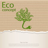 Ecology and waste plug symbol with eco Stock Photography