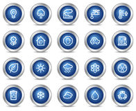 Ecology web icons Royalty Free Stock Image