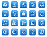 Ecology web icons Royalty Free Stock Photos