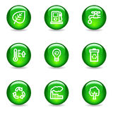 Ecology web icons Stock Photo