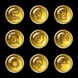 Ecology web icons Royalty Free Stock Photo