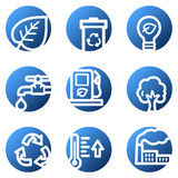Ecology web icons Royalty Free Stock Photo
