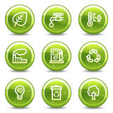Ecology web icons Stock Photography