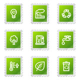 Ecology web icons Stock Image