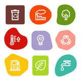 Ecology web icons, colour spots series Royalty Free Stock Images